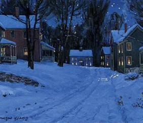 073 Village on a Winter&#8217;s Eve &#8211; Cards