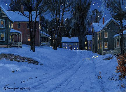 073 Village on a Winter's Eve – Cards