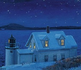 078 Lighthouse at Night &#8211; Cards