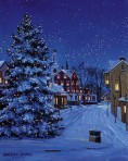 081 The Village Christmas Tree – Matted Card