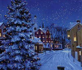 081 The Village Christmas Tree &#8211; Cards