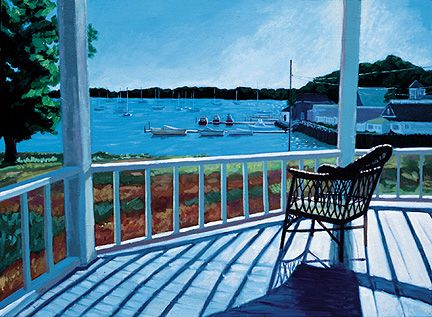 088 Captain's Porch – Matted Card