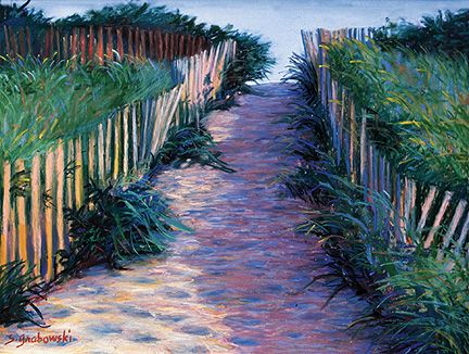 097 Sunset Path – Matted Card