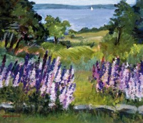 106 Lupine Time &#8211; Matted Card