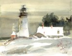 114 Pemaquid In December – Matted Card