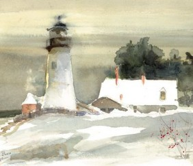 114 Pemaquid in December – Large Print