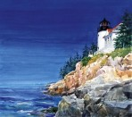 143 Bass Harbor Light – Matted Card