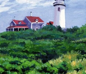 151 Cape Cod Light – Matted Card