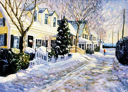 171 December Morn – Matted Card