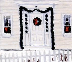 185 White Christmas – Matted Card