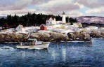 188 Winter Nubble Light – Matted Card
