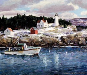 188 Winter, Nubble Light &#8211; Cards