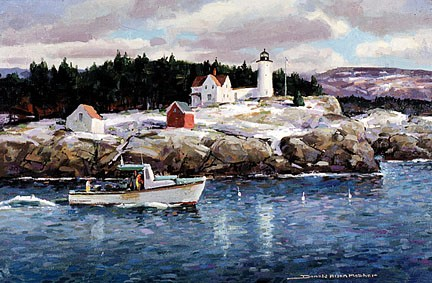 188 Winter, Nubble Light – Cards