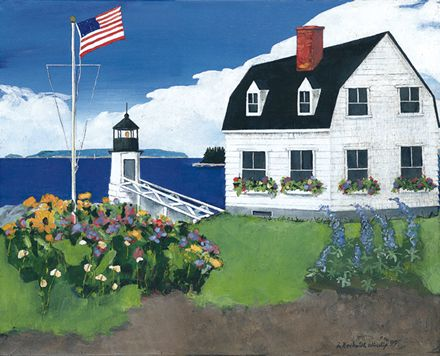 200 Port Clyde Light – Matted Card