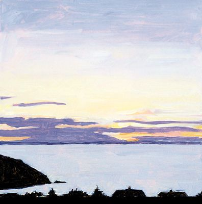 210 Island Sunset – Matted Card