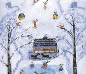 219 Winter Frolic – Matted Card
