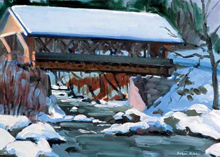 223 Packard Hill Covered Bridge – Matted Card