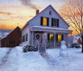 251 Home for the Holidays – Matted Card