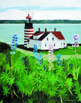 255 West Quoddy Head Light – Matted Card