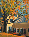 270 YELLOW HOUSE IN AUTUMN – Matted Card