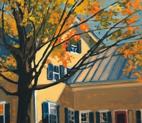 270 YELLOW HOUSE IN AUTUMN – Cards