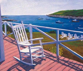 271 MONHEGAN PORCH – Matted Card