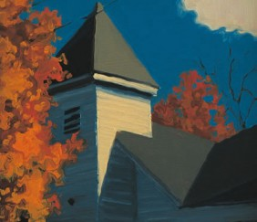 275 Autumn Steeple – Matted Card