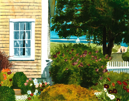 289 Seaside Cottage Garden – Matted Card