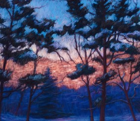 291 Winter Dawn – Matted Card