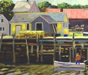 296 Dockside – Matted Card