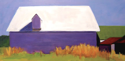 297 Rita's Barn – Matted Card