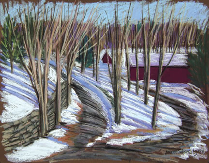 314 Winter Afternoon – Matted Card