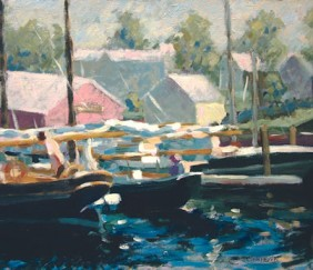 318 HARBOR MORNING, CAMDEN – Matted Card
