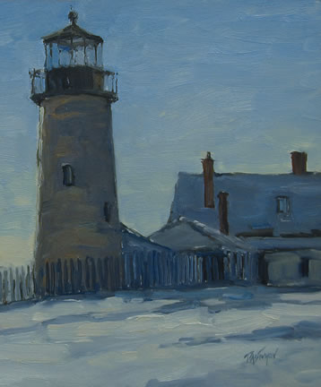 320 WINTER LIGHT, PEMAQUID – Matted Card