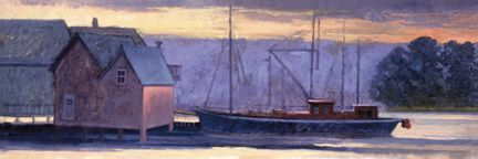 802 Working Harbor – Matted Wrapcard