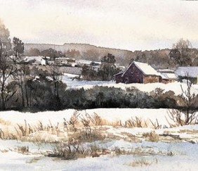 812 The Farm, Early Winter – Matted Wrapcard