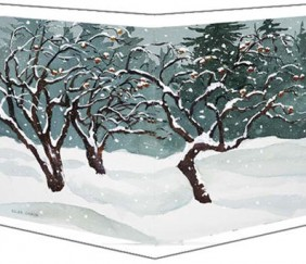 820 APPLE TREES IN SNOW &#8211; Magnet
