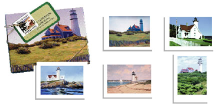 PC22 Lighthouses of Massachusetts – Boxed Notes