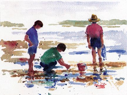 001 Beachcombers – Matted Card