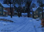 073 Village on a Winter's Eve – Matted Card