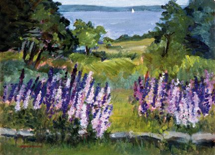 106 Lupine Time – Matted Card