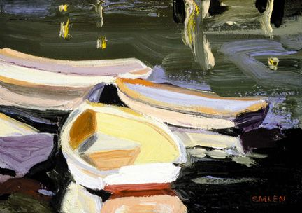183 Rowboats II – Matted Card