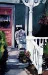 198 Grandma's Porch – Matted Card