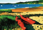 228 Red Kayaks – Matted Card