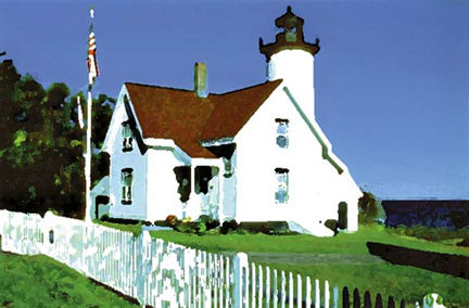229 West Chop Lighthouse – Matted Card