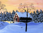 239 Barn in the Glow – Cards