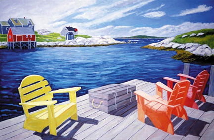 248 Lobster Dock – Matted Card