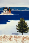 262 Ice in the Harbor – Matted Card