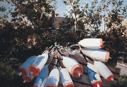 267 MONHEGAN BUOYS – Matted Card