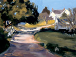 294 Monhegan Library – Matted Card